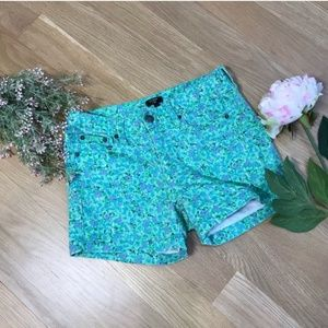 J. Crew |High Waisted Stretch Floral Shorts Size 2